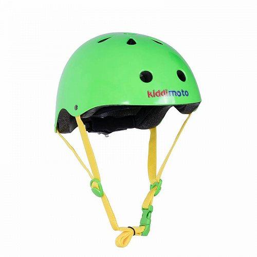 お祝いやプレゼントにも Kiddimoto ヘルメット 高い素材 ネオン Green Small 代引不可 送料無料 子供用 国産品 あす楽不可