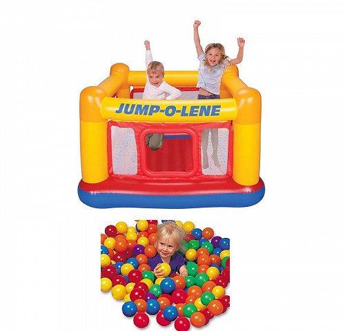 Intex Inflatable Jump-O-Lene Ball Pit Bouncer Bounce House w/ 100 Play Balls 大型遊具 バウンス ハウス トランポリン 【送料無料】【代引不可】【あす楽不可】