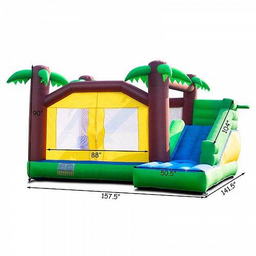 Costway Goplus Inflatable Moonwalk Jungle Bounce House Jumper Bouncy キッズ 子供 Jump Bouncer Castle 大型遊具 バウンス ハウス トランポリン 【送料無料】【代引不可】【あす楽不可】
