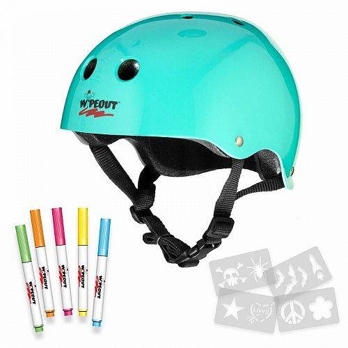 お祝いやプレゼントにも Wipeout Bike ヘルメット 5+ Teal 代引不可 中古 Blue 送料無料 あす楽不可 限定タイムセール 子供用