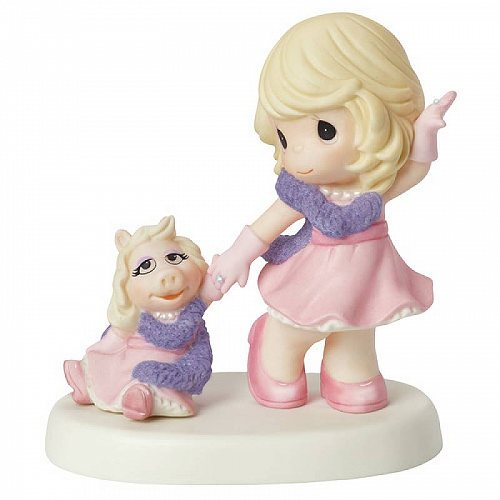Precious Moments Disney Our Friendship Is Fabulous Girl With Miss Piggy Figurine #154014 プレシャスモーメント ディズニー【送料無料】【代引不可】【あす楽不可】