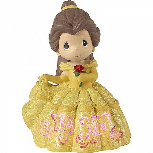 Precious Moments Disney Belle LED ライトアップ Cutout ドレス Musical Figurine #183472 プレシャスモーメント ディズニー【送料無料】【代引不可】【あす楽不可】