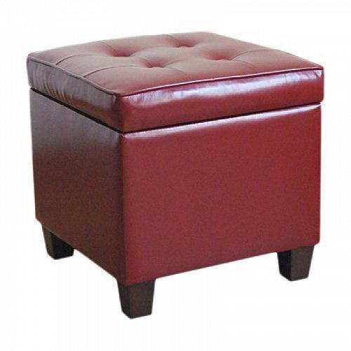 HomePop Square Tufted Storage Ottoman Multiple Colors Red 家具 オットマン・コーヒーテーブル 【送料無料】【代引不可】【あす楽不可】