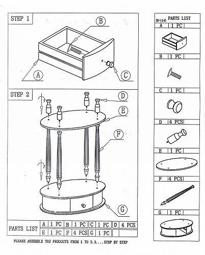 Home Craft Oval End Table Dark Walnut 家具 木製 サイドテーブル 【送料無料】【代引不可】【あす楽不可】