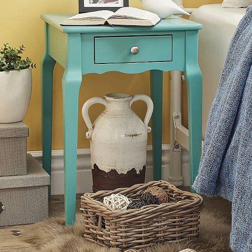 Weston Home Chelsea Lane Riley Wood Single-Drawer Nightstand Side Table Marine Green 家具 木製 サイドテーブル 【送料無料】【代引不可】【あす楽不可】