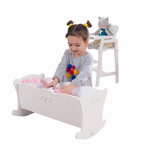 お祝いやプレゼントにも KidKraft 新着セール キッズクラフト 人気 おすすめ Tiffany Bow Lil Doll Cradle 大型 あす楽不可 代引不可 送料無料 ごっこ遊び ドールハウス