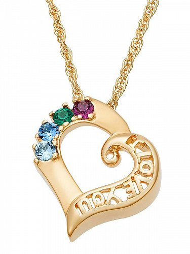 Personalized Planet Family ジュエリー 宝飾品 Personalized Mother's 14kt Gold-Plated