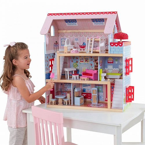 KidKraft キッズクラフト Chelsea Doll Cottage with 16 Accessories Included 大型 ドールハウス・ごっこ遊び【送料無料】【代引不可】【あす楽不可】