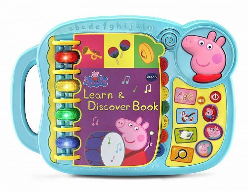 VTech Peppa Pig Learn and Discover Book Great Gift for キッズ 子供 知育玩具 英会話 英語 【送料無料】【代引不可】【あす楽不可】