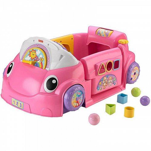 Fisher-Price フィッシャープライス Laugh & Learn Crawl Around Car Pink 知育玩具 英会話 英語 【送料無料】【代引不可】【あす楽不可】