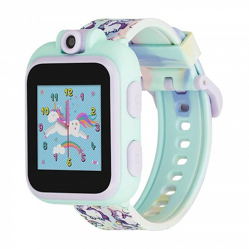 iTouch PlayZoom PlayZoom Smartwatch for キッズ 子供 with Games Camera and Sound Red and Pink Hearts Print Strap ネクタイ Dye Unicorns 知育玩具 英会話 英語 【送料無料】【代引不可】【あす楽不可】
