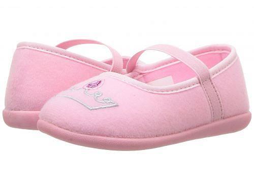 Foamtreads Kids 女の子用 キッズシューズ 子供靴 スリッパ 乳児用 Crown (Toddler/Little Kid) - Pink