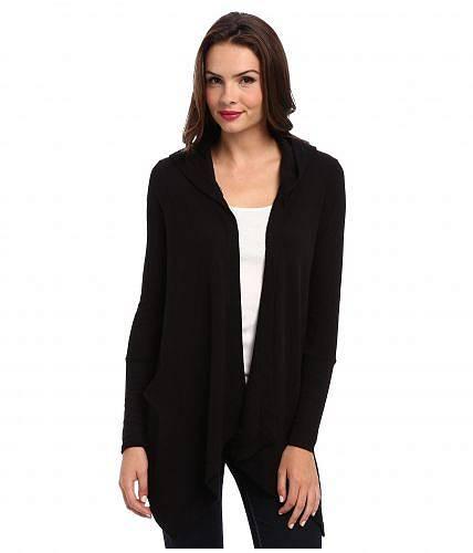 送料無料 スプレンデッド Splendid レディース 女性用 ファッション セーター Thermal Flight Cardigan Hoodie - Black