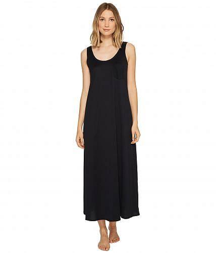 送料無料 Hanro ハンロ レディース 女性用 ファッション パジャマ 寝巻き ナイトガウン Hanro ハンロ Cotton Deluxe Long Tank Nightgown - Black