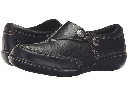 送料無料 クラークス Clarks レディース 女性用 シューズ 靴 ローファー ボートシューズ Ashland Lane Q - Black