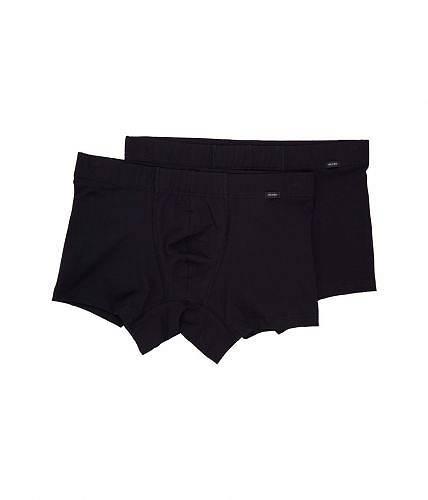 送料無料 ハンロ Hanro メンズ 男性用 ファッション 下着 Cotton Essentials 2-Pack Boxer Brief - Black 1