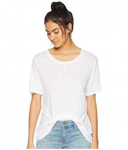 スプレンデッド Splendid レディース 女性用 ファッション Tシャツ Zoe Short Sleeve Cotton Modal Slub Crew Neck - White