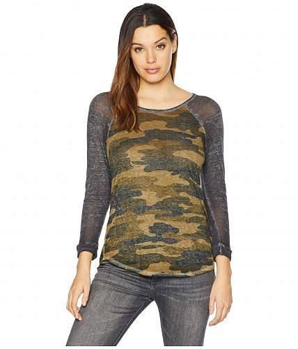 送料無料 ラッキーブランド Lucky Brand レディース 女性用 ファッション Tシャツ Camo Tee - Green Multi