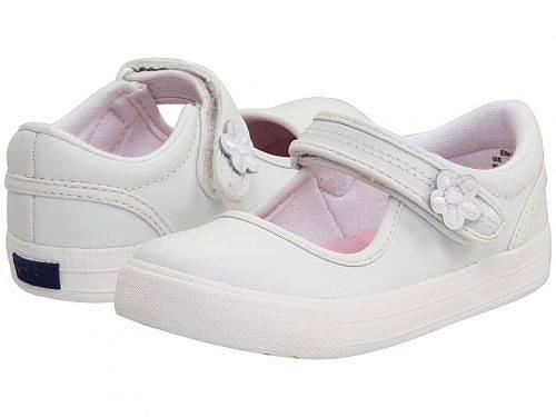 送料無料 ケッズ Keds Kids 女の子用 キッズシューズ 子供靴 フラット Ella MJ (Toddler/Little Kid) - White