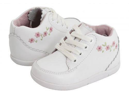 ストライドライト Stride Rite 女の子用 キッズシューズ 子供靴 オックスフォード 幼児用 SRT Emilia (Infant/Toddler) - White