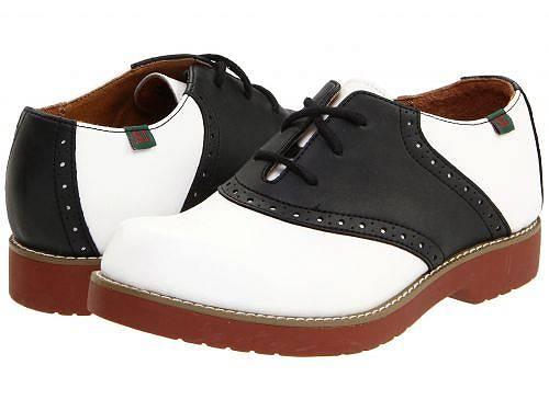 送料無料 スクールイシュー School Issue 女の子用 キッズシューズ 子供靴 オックスフォード 幼児用 Varsity (Toddler/Little Kid/Big Kid) - White/Black