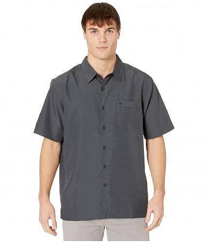 送料無料 クイックシルバー Quiksilver Waterman メンズ 男性用 ファッション ボタンシャツ Centinela 4 Short Sleeve Shirt - Black Centinella