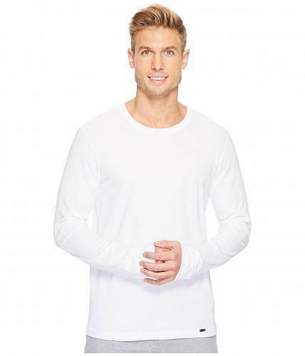 ハンロ Hanro メンズ 男性用 ファッション Tシャツ Living Long Sleeve Crew Neck Shirt - White