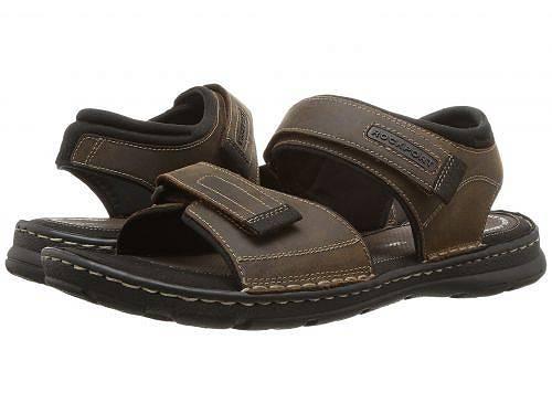 送料無料 ロックポート Rockport メンズ 男性用 シューズ 靴 サンダル Darwyn Quarter Strap - Brown II Leather