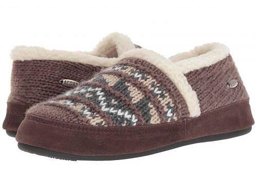 送料無料 エイコーン Acorn レディース 女性用 シューズ 靴 スリッパ Nordic Moc - Nordic Brown