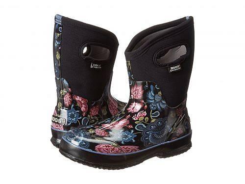 送料無料 ボグス Bogs レディース 女性用 シューズ 靴 ブーツ スノーブーツ Classic Mid - Black Multi Winter Blooms