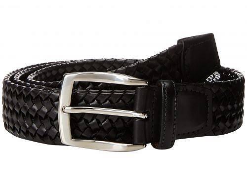 送料無料 トリオレザー Torino Leather Co. メンズ雑貨 小物 ベルト 35mm Italian Woven Stretch Leather - Black