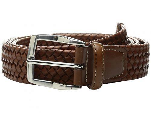 送料無料 トリオレザー Torino Leather Co. メンズ 男性用 ファッション雑貨 小物 ベルト 35mm Italian Woven Stretch Leather - Cognac