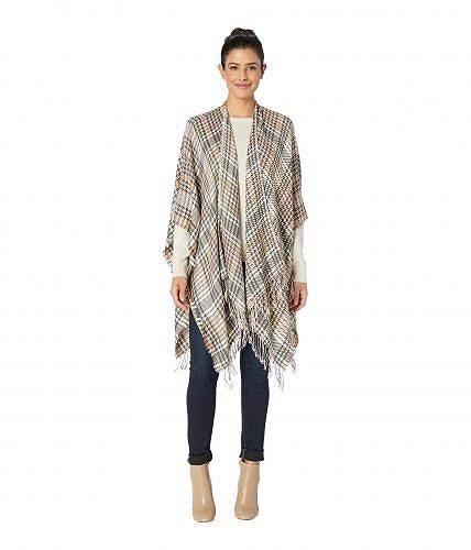 ヴィンスカムート Vince Camuto レディース 女性用 ファッション セーター Supersoft Plaid Houndstooth Ruana - Camel