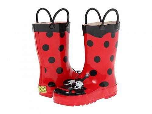 送料無料 ウエスタンチーフ Western Chief Kids 女の子用 キッズシューズ 子供靴 ブーツ レインブーツ Ladybug Rainboot (Toddler/Little Kid/Big Kid) - Red