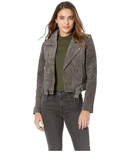 送料無料 ブランクエヌワイシー Blank NYC レディース 女性用 ファッション アウター ジャケット コート ライダージャケット Suede Moto Jacket - French Grey