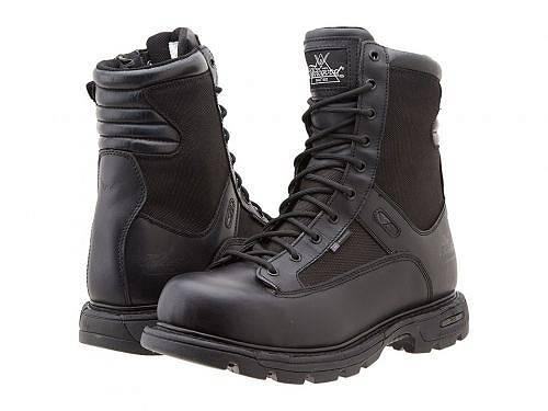 送料無料 ソログッド Thorogood メンズ 男性用 シューズ 靴 ブーツ ワーカーブーツ 8 Inch Trooper Side Zip - Black