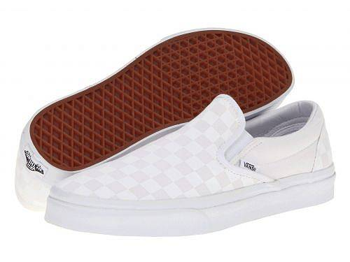 送料無料 バンズ Vans シューズ 靴 スニーカー 運動靴 Classic Slip-On(TM) Core Classics - (Checkerboard) True White/True White