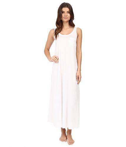 送料無料 ハンロ Hanro レディース 女性用 ファッション パジャマ 寝巻き ナイトガウン Cotton Deluxe Long Tank Nightgown - White
