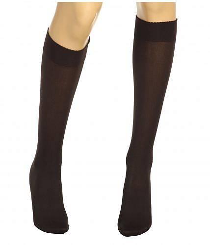送料無料 ウォルフォード Wolford レディース 女性用 ファッション ソックス 靴下 Velvet De Luxe 50 Knee-Highs - Nearly Black