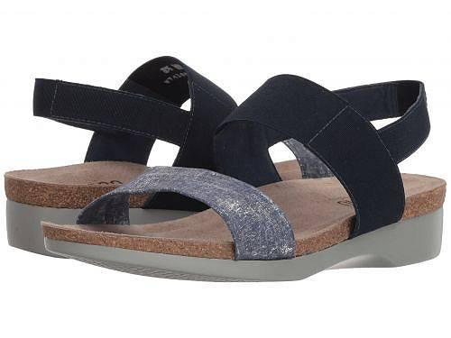 送料無料 ムンロ Munro レディース 女性用 シューズ 靴 サンダル Pisces - Blue/Silver Metallic