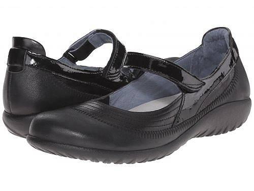 送料無料 ナオト Naot レディース 女性用 シューズ 靴 フラット Kirei - Black Leather Combo