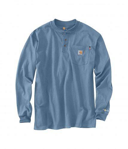 カーハート Carhartt メンズ 男性用 ファッション Tシャツ Big & Tall Flame-Resistant Force(R) Cotton Long Sleeve T-Shirt - Medium Blue