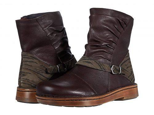送料無料 ナオト Naot レディース 女性用 シューズ 靴 ブーツ アンクル ショートブーツ Lorca - Soft Brown Leather/Safari Olive Suede