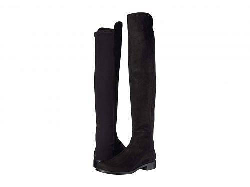 送料無料 スチュアートワイツマン Stuart Weitzman レディース 女性用 シューズ 靴 ブーツ ロングブーツ The 5050 Boot - Black Suede/Stretch Gabardine