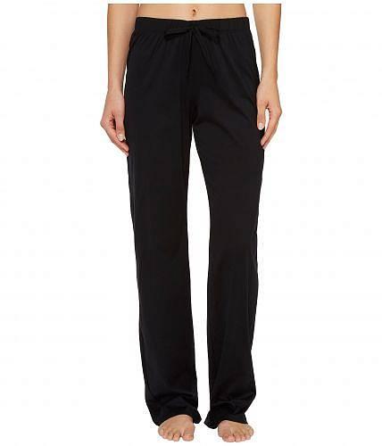 送料無料 Hanro ハンロ レディース 女性用 ファッション パジャマ 寝巻き Hanro ハンロ Cotton Deluxe Drawstring Long Pants - Black