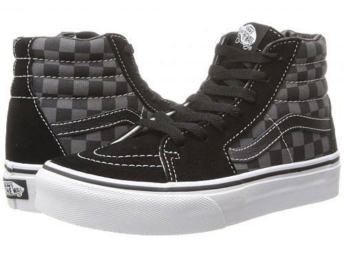 送料無料 Vans Kids バンズ キッズ 子供用 キッズシューズ 子供靴 スニーカー 運動靴 Vans Kids バンズ SK8-Hi (Little Kid/Big Kid) - (Checkerboard) Black/Pewter