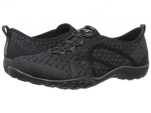 送料無料 スケッチャーズ SKECHERS レディース 女性用 シューズ 靴 スニーカー 運動靴 Breathe-Easy - Fortuneknit - Black