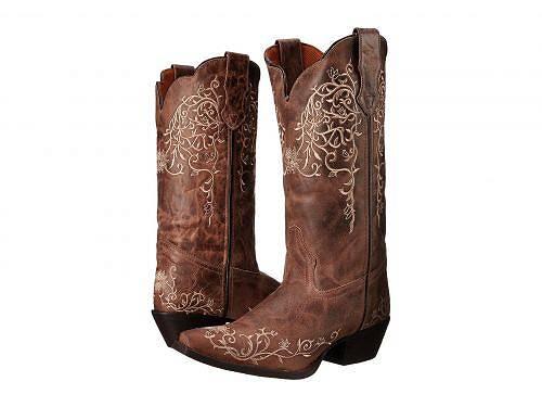 送料無料 Laredo ラレド レディース 女性用 シューズ 靴 ブーツ ウエスタンブーツ Laredo ラレド Jasmine - Taupe/Bone Flower Embossed