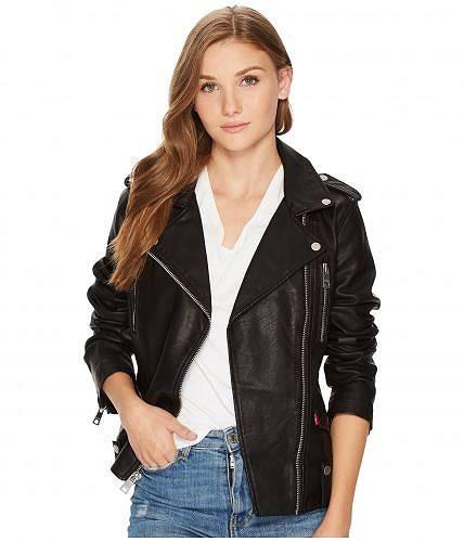 送料無料 リーバイス Levi's(R) レディース 女性用 ファッション アウター ジャケット コート ライダージャケット Asymmetrical Moto Chunky Zip - Black