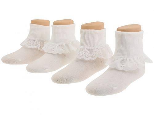 送料無料 ジェフェリーズソックス Jefferies Socks 女の子用 子供服 ソックス 靴下 Sisters 4-Pack (Infant/Toddler/Little Kid/Big Kid) - White